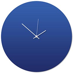 Blueout White Circle Clock Large 23x23in. Aluminum Polymetal
