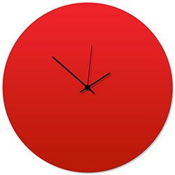Redout Black Circle Clock Large 23x23in. Aluminum Polymetal