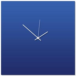 Blueout White Square Clock Large 23x23in. Aluminum Polymetal