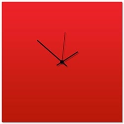 Redout Black Square Clock Large 23x23in. Aluminum Polymetal