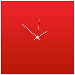 Redout White Square Clock 16x16in. Aluminum Polymetal