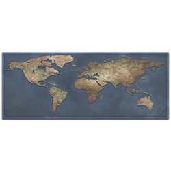 World Map Art 1800s World Map - Old World Wall Decor on Metal or Acrylic