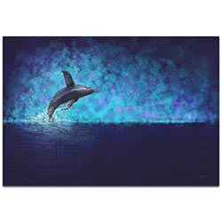 Whale Painting Breaching the Night - Humpback Art on Metal or Acrylic