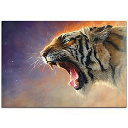 Expressionist Wall Art Fear Me - Wildlife Decor on Metal or Plexiglass