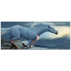 Expressionist Wall Art Running Horse - Wildlife Decor on Metal or Plexiglass