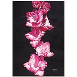 Traditional Wall Art Bright Pink Glads - Floral Decor on Metal or Plexiglass