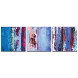 Abstract Wall Art Urban Triptych 1 Large - Urban Decor on Metal or Plexiglass