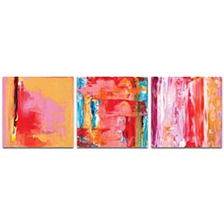 Abstract Wall Art Urban Triptych 3 - Urban Decor on Metal or Plexiglass