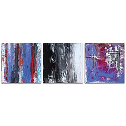 Abstract Wall Art Urban Triptych 4 Large - Urban Decor on Metal or Plexiglass