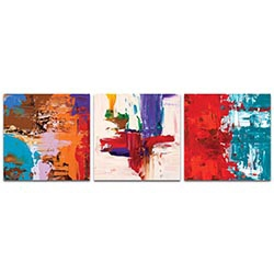 Abstract Wall Art Urban Triptych 5 Large - Urban Decor on Metal or Plexiglass