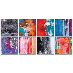 Abstract Wall Art Urban Windows Large - Urban Decor on Metal or Plexiglass