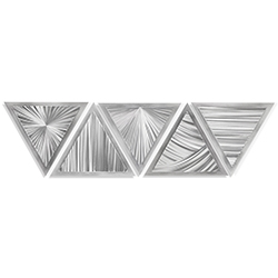 Helena Martin Linear Angles 53in x 13in Modern Metal Art on Ground Metal