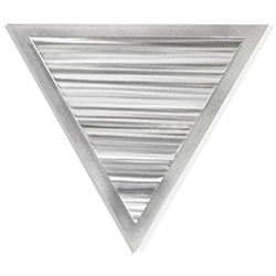 Helena Martin Strata Angle 15in x 13in Modern Metal Art on Ground Metal