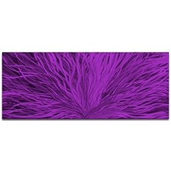 Helena Martin Blooming Purple 60in x 24in Original Abstract Art on Ground and Painted Metal