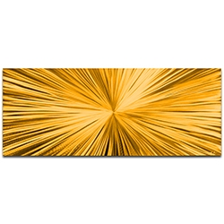 Helena Martin Starburst Gold 60in x 24in Original Abstract Art on Ground and Painted Metal