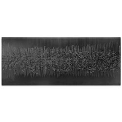 Helena Martin Static Black 60in x 24in Original Abstract Art on Ground and Painted Metal