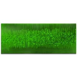 Helena Martin Static Green 60in x 24in Original Abstract Art on Ground and Painted Metal