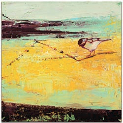 Contemporary Wall Art Bird on a Horizon - Urban Birds Decor on Metal or Plexiglass