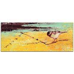 Contemporary Wall Art Bird on a Horizon v2 - Urban Birds Decor on Metal or Plexiglass