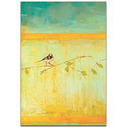Contemporary Wall Art Bird with Horizontal Stripes v2 - Urban Birds Decor on Metal or Plexiglass