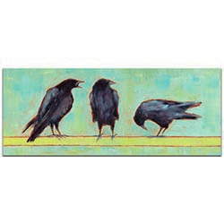 Contemporary Wall Art Crow Bar 1 v2 - Urban Birds Decor on Metal or Plexiglass