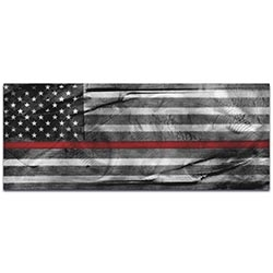 Firemen Flag American Glory Firefighter Tribute - First Responders Art on Metal or Acrylic