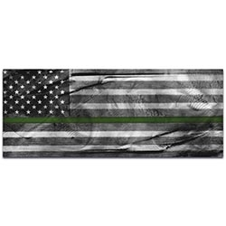 Armed Forces Flag American Glory Military Tribute - US Military Art on Metal or Acrylic