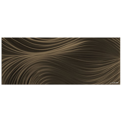 Passing Currents Bronze - Contemporary Metal Wall Art