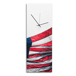 US Flag Clock - Contemporary Metal Wall Clock