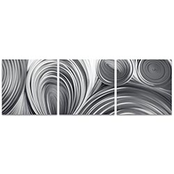 Conduction Triptych 38x12in. Metal or Acrylic Contemporary Decor