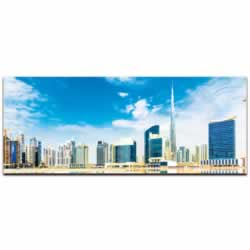 Dubai City Skyline - Urban Modern Art, Designer Home Decor, Cityscape Wall Artwork, Trendy Contemporary Art