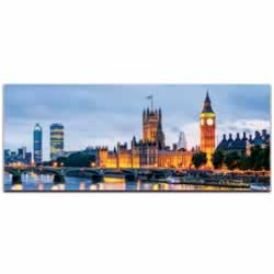 Classic London City Skyline - Urban Modern Art, Designer Home Decor, Cityscape Wall Artwork, Trendy Contemporary Art