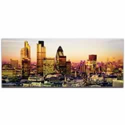 Modern London City Skyline - Urban Modern Art, Designer Home Decor, Cityscape Wall Artwork, Trendy Contemporary Art