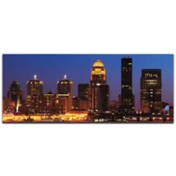 Louisville City Skyline - Urban Modern Art, Designer Home Decor, Cityscape Wall Artwork, Trendy Contemporary Art
