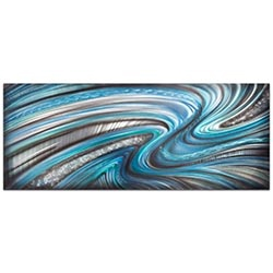 Abstract Wall Art Beyond the Waves - Urban Decor on Metal or Plexiglass