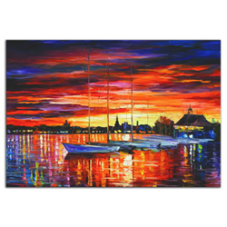 Helsinki Sailboats at Yacht Club - Modern Metal Wall Art