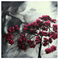 Pink Passion - Abstract Painting Print by Megan Duncanson