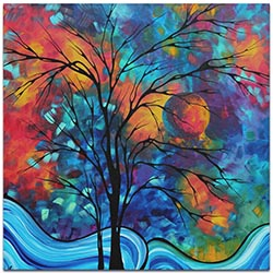 Landscape Painting A Secret Place - Abstract Tree Art on Metal or Acrylic