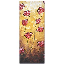 Impasto Flower Painting Floating Poppies - Abstract Flower Art on Metal or Acrylic