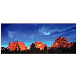 Landscape Photography Rocky Towers - Desert Mountains Art on Metal or Plexiglass