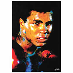 Mark Lewis Muhammad Ali Affirmation Realized Limited Edition Pop Art Print on Metal or Acrylic