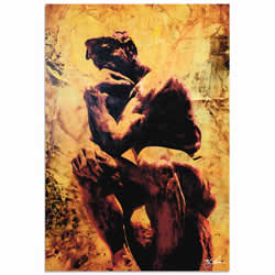 Mark Lewis Rodin Clarified Thought Limited Edition Pop Art Print on Metal or Acrylic