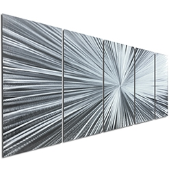 The Light by Helena Martin - Starburst Metal Art on Natural Aluminum