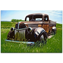 Americana Wall Art Out to Pasture - Classic Trucks Decor on Metal or Plexiglass