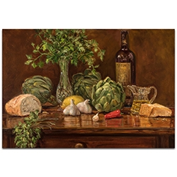 Traditional Wall Art Artichoke - Still Life Decor on Metal or Plexiglass