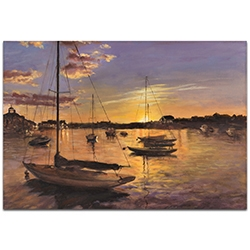 Coastal Wall Art Harbor 1 - Boats Decor on Metal or Plexiglass