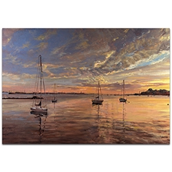 Coastal Wall Art Harbor 2 - Boats Decor on Metal or Plexiglass
