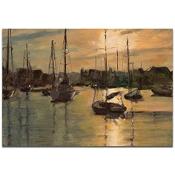 Coastal Wall Art Harbor 3 - Boats Decor on Metal or Plexiglass