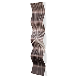 Tantalum Wave 9.5x44in. Metal Eclectic Decor