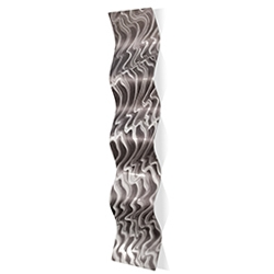 Polar Wave 9.5x44in. Metal Eclectic Decor